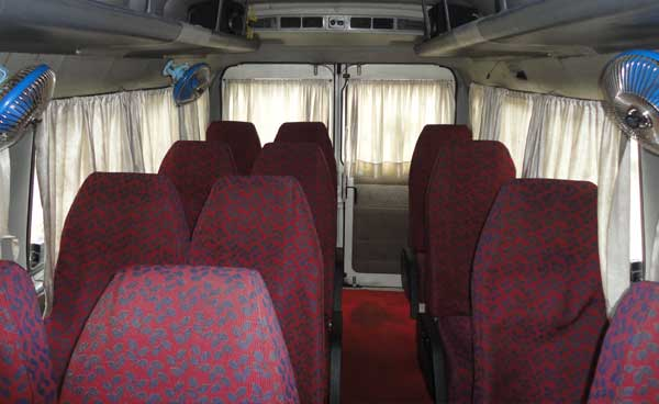 Tempo Traveller Internal View
